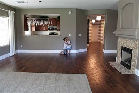 love  wall color   dark wood floors fortress