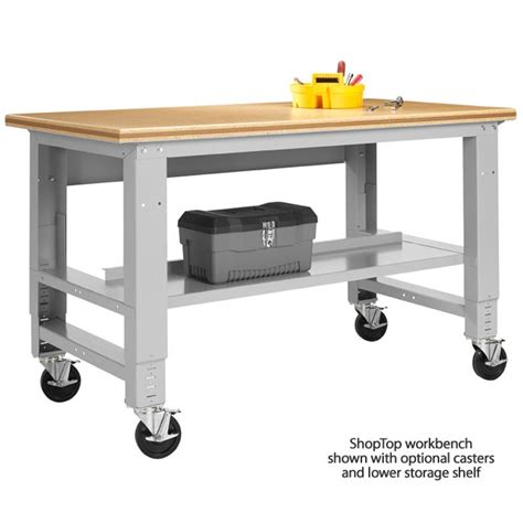 shop table on wheels diversified fab lab workbench w shoptop 72 quot w amt 7230s