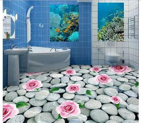 wallpaper custom mural pvc bathroom floor painting