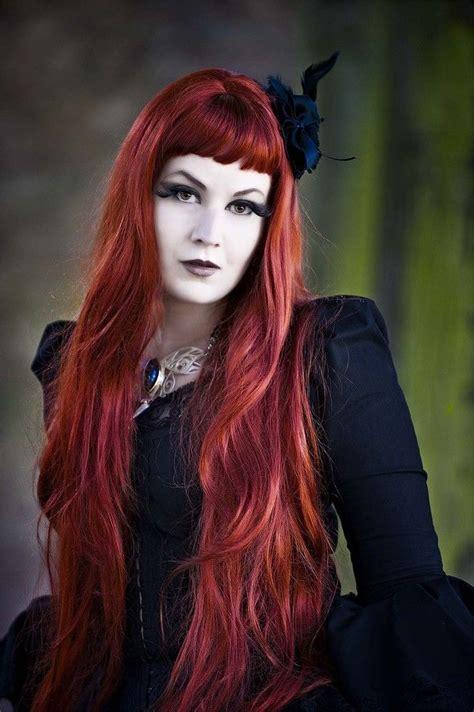 Enchantingly Captivating #goth Woman Redhead Hair Dress