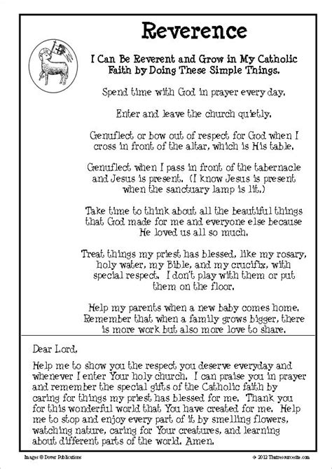 virtue lesson  reverence  resource site