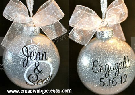 engagement christmas ornament invitation template