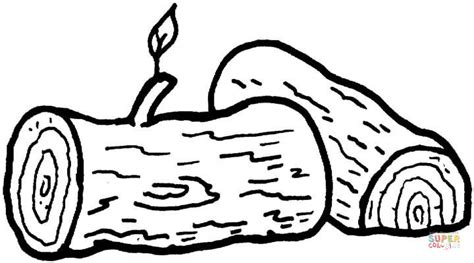 logs coloring page  printable coloring pages