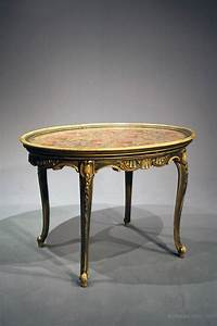 Antique, Oval, Painted, Coffee, Table