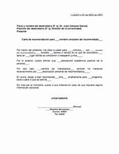 Carta De Recomendación Académica Gt Formatos Y Ejemplos
