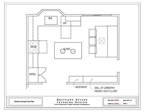 Detailed Alltype Kitchen Floor Plans Review  Small