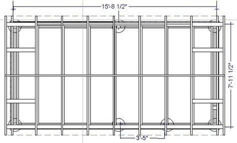 8x16 shed floor plan storage sheds plans 8x16 images