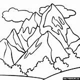 Coloring Mountains sketch template