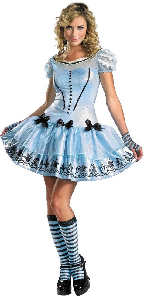 Alice In Wonderland Movie Sassy Blue Dress Alice Adult