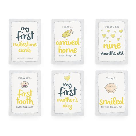From 1 month old celebrations to the first steps, with plenty of c развернуть. Baby Milestone Cards - Yellow Edition   Milestone Cards   Tiny Viking Co