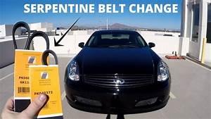 Serpentine Belt Replacement - Infiniti G35  Ud83d Udd27 Nissan 350z