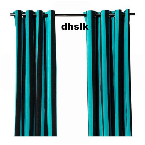 black and white striped curtains ikea ikea n 196 tvide natvide curtains drapes 2 panels turquoise