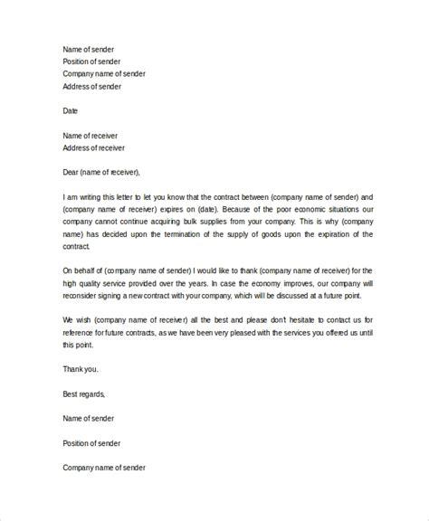 sample service termination letters   apple