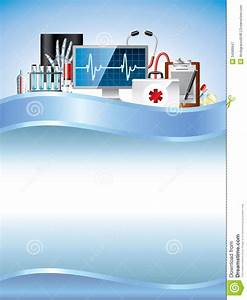 Medical Equipment On Blue Vector Background Stock Vector ...