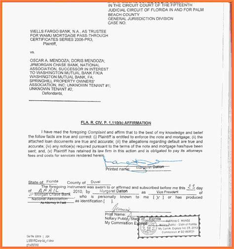 notary statement sample statement synonym