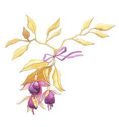 victorian flowers  vintage fruit clip art