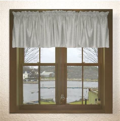 Solid Light Silver Gray Color Valance In Many Lengths