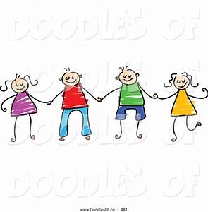 Friends Holding Hands Drawing | Clipart Panda - Free ...