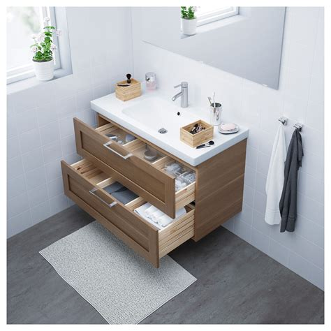 Bathroom Tray Ikea by Ikea Godmorgon Odensvik Bathroom Vanity Walnut Effect