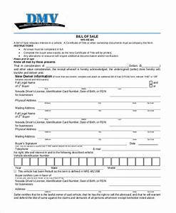 Sample dmv bill of sale form 8 free documents in pdf for Dmv documents bill of sale