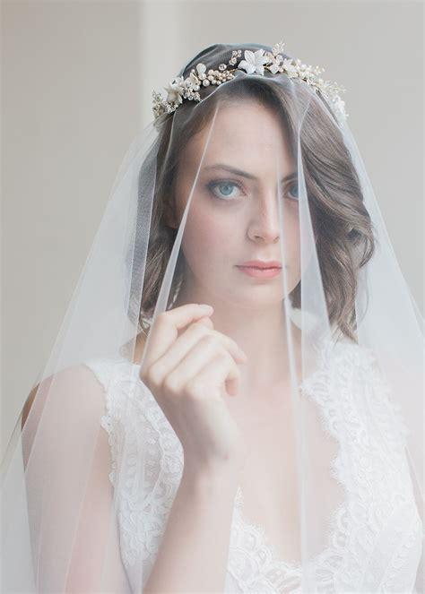 Cassia Delicate Floral Bridal Headband Tania Maras