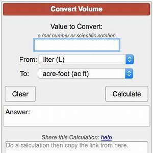 Calcul Volume Litre : volume conversion calculator ~ Melissatoandfro.com Idées de Décoration