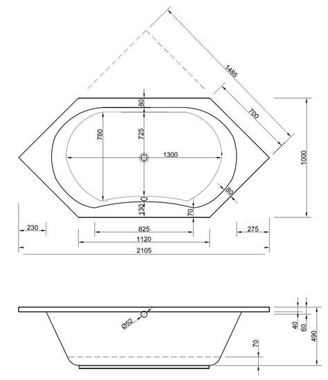 Sechseck Badewanne Maße by Badewanne Sechseck 210 X 100 X 49 Cm Badewanne Badewanne