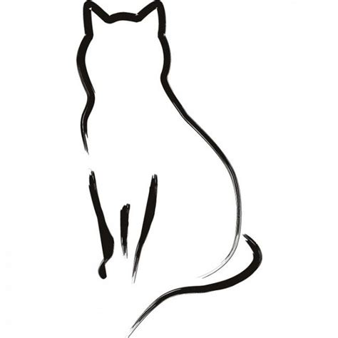 17 best images about cat tattoos on cat outline cats and cat designs