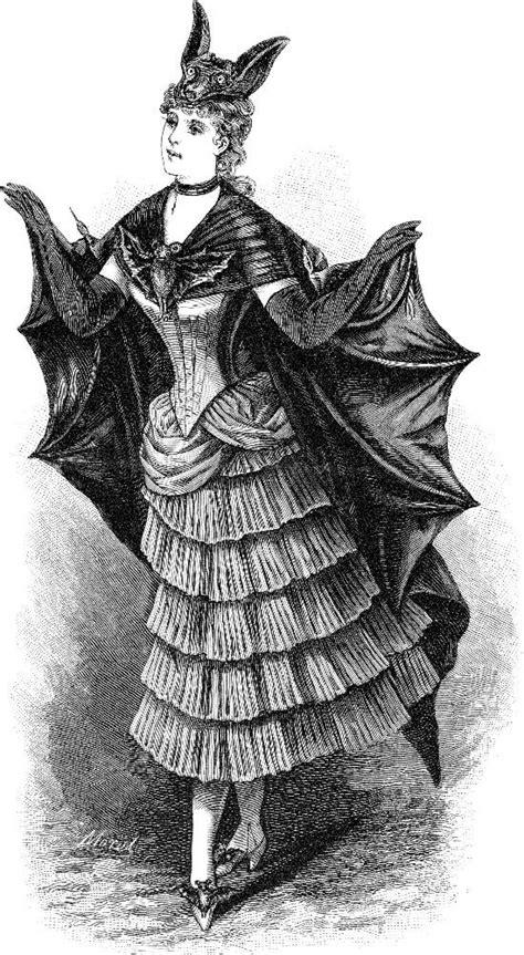 vintage clip art  victorian bat ladies halloween  graphics fairy