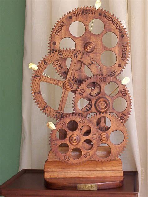 woodwork wooden gear clocks  plans