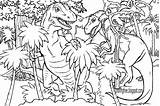 Coloring Dinosaur Jurassic Drawing Dinosaurs Printable Rex Prehistoric Adults Dino Realistic Lets Bird Amusement Difficult Getdrawings Resolution King Complicated sketch template
