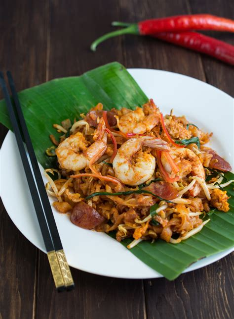 penang char kway teow wok skillet