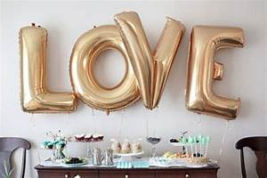 20 engagement party balloon decor ideas to try shelterness for I love you letter balloons