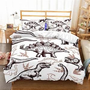 Details, About, Dinosaur, Duvet, Quilt, Cover, Set, Pillowcase