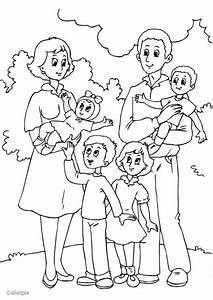 Free Coloring Pages Of A Family Picnic Family Pa