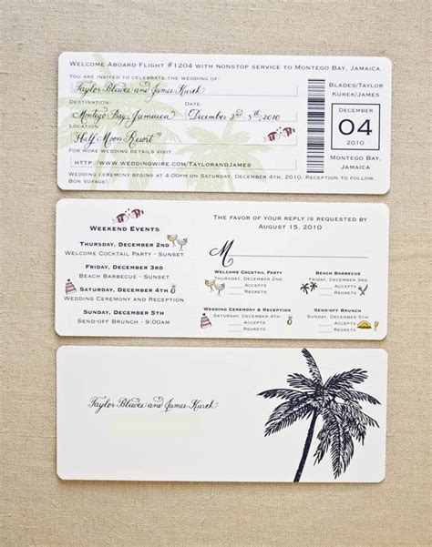 image for boarding pass wedding invitation template our