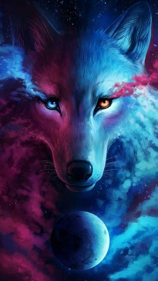 wolf galaxy  iphone wallpapers