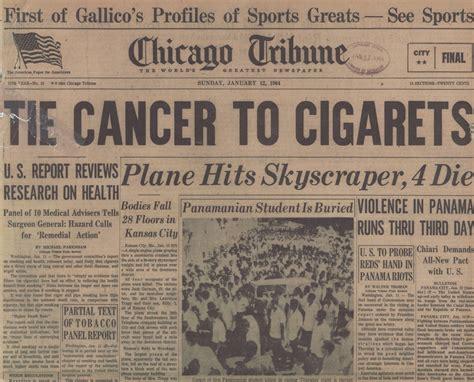 1964 newspaper headlines blum archive