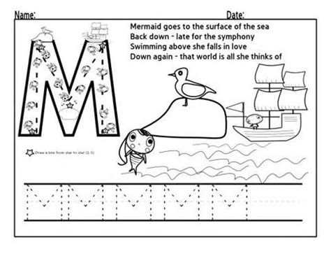 letter m worksheets for preschool preschool and kindergarten 746 | tracing letter m worksheets