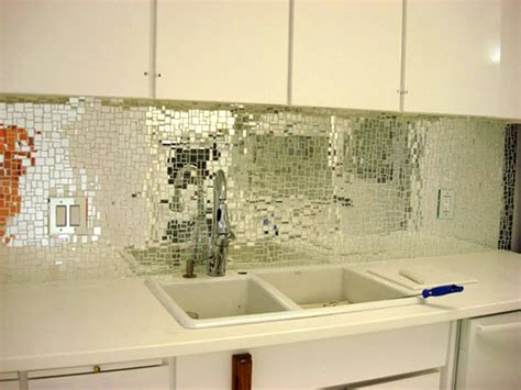 kitchen with glass backsplash look glass mirror mosaic tile backsplash apartment therapy