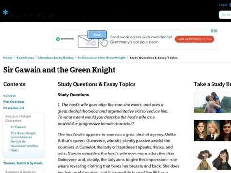 Gawain Essay by Sir Gawain And The Green Study Questions Essay