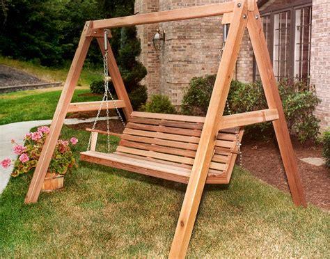 cedar american classic porch swing w stand