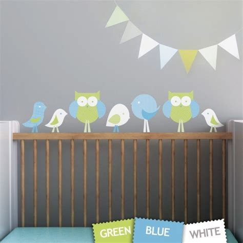 1 birds and owls nursery wall decals removable