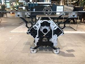 Ls1 Engine Block Coffee Table In Black And Silver  Send A
