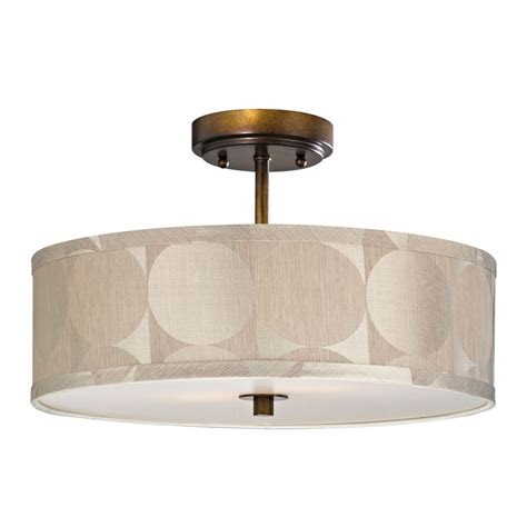 drum shade ceiling light bronze drum shade semi flush ceiling light 16 inches
