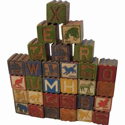Alphabet Wood Blocks Children Change Moore Antiques