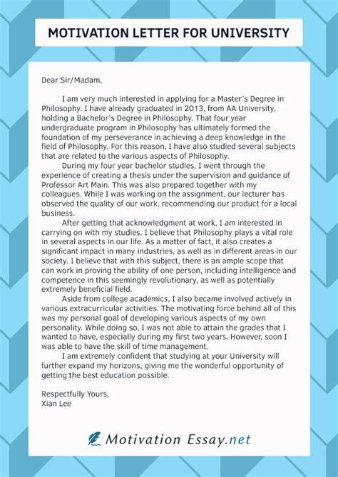 motivation letters  bachelor university application sample