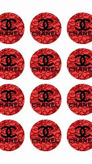 Chanel Logo On Red Lace Custom Edible Image! Just Place On ...