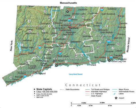 Connecticut State Map and Travel Guide
