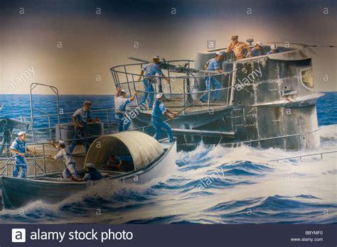 U Boat U 505 by Painting Of Wwii Us Navy Capture Of German U Boat U 505